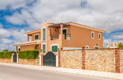 Villa house in Lagos, Portugal. New, modern villa house in Lagos, Portugal Royalty Free Stock Photography