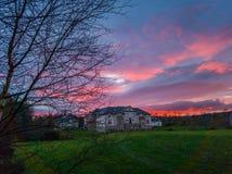 Villa in hout Royalty-vrije Stock Fotografie
