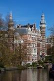 Villa i Amsterdam Arkivbilder