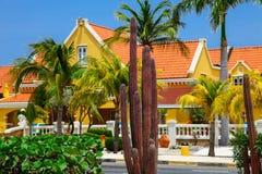 Villa i Aruba Arkivbilder