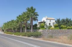 Villa i Grekland, Rhodes ö Royaltyfri Bild