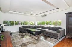 Villa Interior and living room Royalty Free Stock Photos