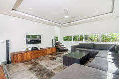 Villa Interior and living room Stock Photography