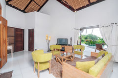 Villa Interior and living room Stock Image