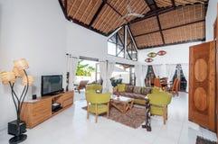 Villa Interior and living room Royalty Free Stock Photo