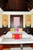 Villa interior at the luxury hotel Stock Photos