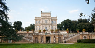 Villa. Italy rome park gardens trees architecture palace Royalty Free Stock Photo