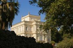 Villa. Italy rome park gardens trees architecture palace Royalty Free Stock Photos
