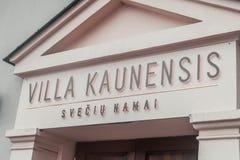 Villa Kaunesis dell'hotel immagine stock libera da diritti