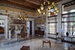 Villa Kerylos, Beaulieu sur mer, France, interiors and details Royalty Free Stock Images