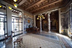 Villa Kerylos, Beaulieu sur mer, France, interiors and details Royalty Free Stock Photography