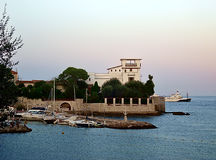 Villa Kerylos view from embankment Beaulieu-sur-Mer Stock Photo