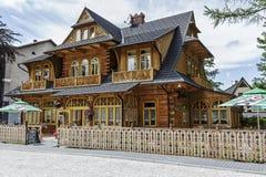 Villa Konstantynowka i Zakopane Royaltyfri Bild