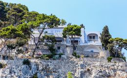 Villa Krupp Hotel in the town of Capri on Capri Island Stock Photography