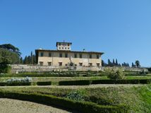Palace in Castello in Italy stock photography