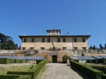 Palace in Castello in Italy stock photos
