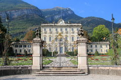 Villa La Quiete on the Lake Como. Magnificent palace by the lake from Como to Italy Stock Photography