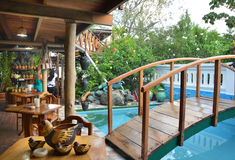 Villa Lagarto Restaurant Stock Image