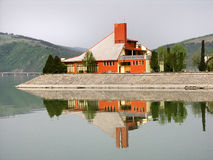 Villa on the lake royalty free stock photography