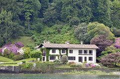 Villa beside Lake Como Royalty Free Stock Photo