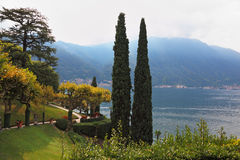 The villa on Lake Como Royalty Free Stock Images
