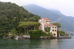 Villa on Lake Como. The Villa del Balbianello on Lake Como, Lenno, Italy royalty free stock photos