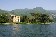 Villa on Lake of Como - Italy Stock Photo