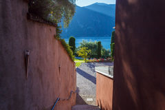 Villa in Lake Como Stock Images
