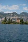 Villa at lake garda in italy, malcesine. Royalty Free Stock Image