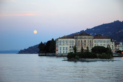 Villa lake moon Stock Image