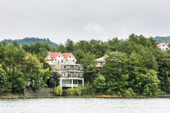 Villa by the lake stock photo