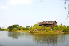 The villa at the lakeside Royalty Free Stock Image