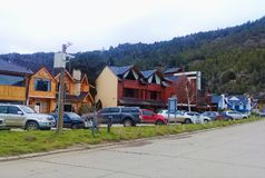 Patagonia. Villa Langostura, Little Neighborhood in Argentina stock photos