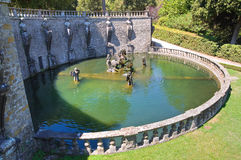 Villa Lante. Bagnaia. Le Latium. L'Italie. images stock