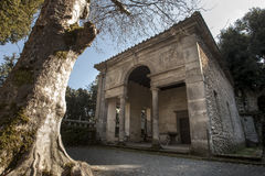 Villa Lante at Bagnaia (small town in Italy) Stock Photos