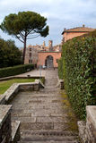 Villa Lante with Bagnaia Walls In The Background Stock Image