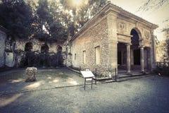 Villa Lante chez Bagnaia (petite ville en Italie) Image libre de droits