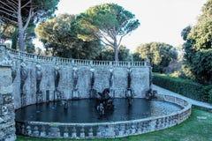 Villa lante,  fountain of Perseo Stock Image