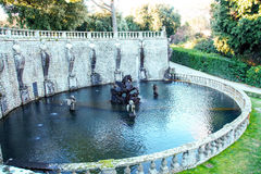 Villa lante,  fountain of Perseo Royalty Free Stock Images