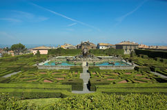 Villa Lante, italian gardens Stock Photos