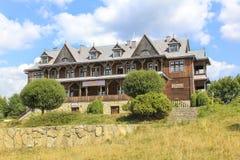 Villa of Leopold Szperling in the tourist settlement Czorsztyn, Royalty Free Stock Photo