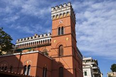 Villa Lituania, Rome. ROME, ITALY - APRIL 20, 2017: Villa Lituania Catholic guest house in Piazza Asti 25, Rome. The building is the Lithuanian St. Casimir stock image