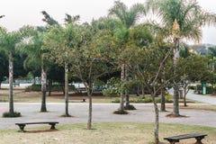 Villa-Lobos parkerar i San Paulo Sao Paulo, Brasilien Brasilien royaltyfria bilder
