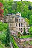 Villa Lobstein appollaiato su Heidelberg Hillside fotografia stock libera da diritti