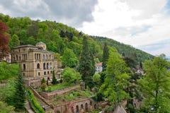 Villa Lobstein appollaiato su Heidelberg Hillside immagine stock