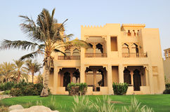 Villa at luxurious hotel. United Arab Emirates Stock Photography