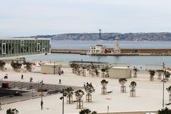 Villa Méditerranée i Marseille, Frankrike Arkivbild