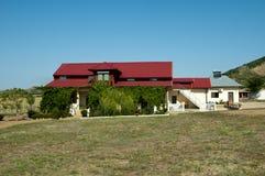 Villa in the macin. Villa in the natural landscape macin romania Royalty Free Stock Photo