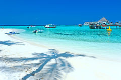 Villa Maldive de l'eau - pavillons Photos libres de droits