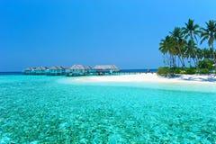 Villa Maldive de l'eau - pavillons Photographie stock libre de droits